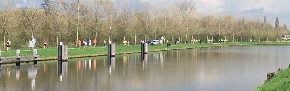 Aantal deelnemers Vrijstad Vianen Loop langs de rivier